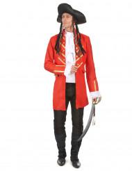 Rotes Piratenkostüm für Erwachsene