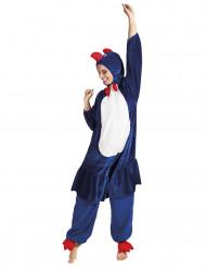 Blaues Hahn-Kostüm für Erwachsene