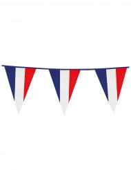 Wimpel-Girlande für französische Fans in blau-weiß-rot