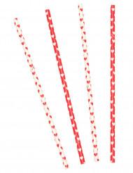 10 Papphälme mit Herzen - Valentinstag