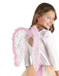 Rosa Engelsflügel für Kinder