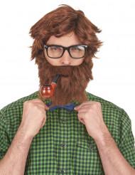 Hipster Perücke mit Bart