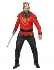Ritter-Herrenkostüm rot-goldfarben-schwarz