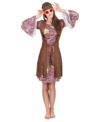 Hippiekostüm für Frauen mit Paisleymuster bunt