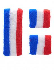 Frankreich Fan Armbänder und Stirnband