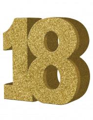 Tisch-Dekoration - Zahl 18 - Gold
