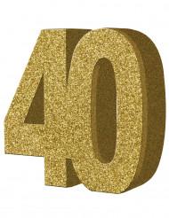 Tisch-Dekoration - Zahl 40 - Gold