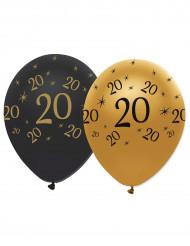 6 Luftballons 20. Geburtstag