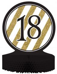 Tisch-Aufsteller - Zahl 18 - gold-schwarz