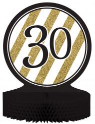 Tisch-Aufsteller - Zahl 30 - gold-schwarz