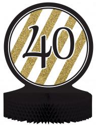 Tisch-Aufsteller - Zahl 40 - gold-schwarz