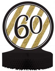 Tisch-Aufsteller - Zahl 60 - gold-schwarz