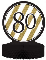 Tisch-Aufsteller - Zahl 80 - gold-schwarz