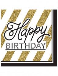 16 Happy Birthday Papier Servietten