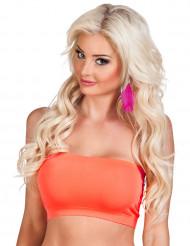 Neon-oranges Bandeau-Top für Damen