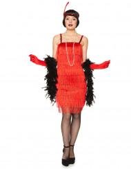 Charleston Damen-Kostüm rot