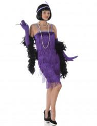 Lilafarbendes Charleston Kostüm für Damen