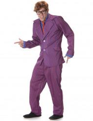 Humorvoller Geheimagent Kostüm für Herren lila