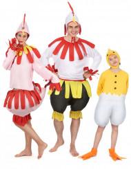 Huhn-Kostüm-Set für die ganze Familie