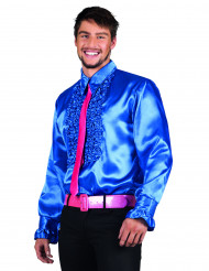 Blaues Disco-Hemd für Herren