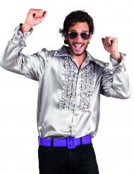 Silbernes Disco-Hemd für Herren
