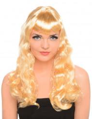 Blonde Langhaar-Perücke für Damen