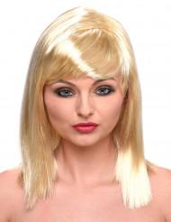 Blonde Schulterlangehaar Perücke für Damen