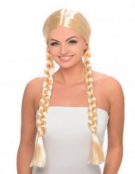 Blonde Schülerin-Perücke
