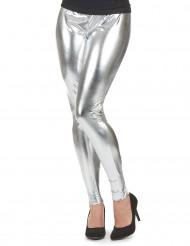 Silberne Leggings für Damen