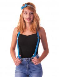 Neonblaue Hosenträger für Erwachsene