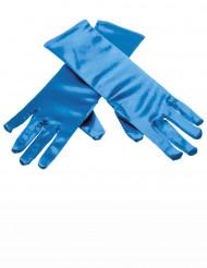 Blaue Handschuhe Eisprinzessin für Kinder