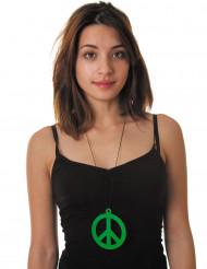 Hippie-Kette neongrün