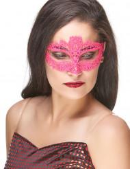Venezianische Maske aus rosa Spitze