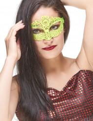 Gelbe Augenmaske aus Spitze