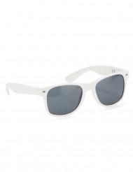 Weiße Blues-Brille für Erwachsene