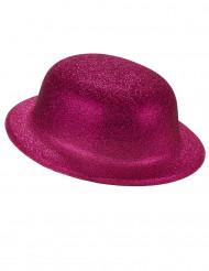 Rosa Glitzer-Hut Melone für Erwachsene