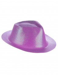 Glitzernder Hut violett