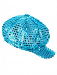 Türkisfarbene Mütze Disco