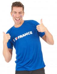 I Love France Fan T-Shirt für Erwachsene