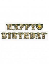 Happy Birthday Girlande - Militär