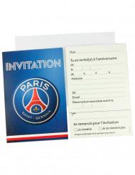 6 Einladungskarten und 6 Umschläge Paris Saint-Germain
