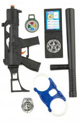 Polizei Accessoire Set für Kinder 6-teilig bunt