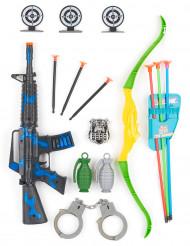 Militär-Set für Kinder mit Gewehr und Bogen