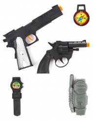 Militär-Set für Kinder Waffen-Spielzeug schwarz-silber