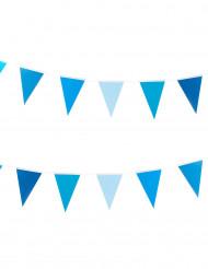 Wimpel-Girlande - klein blau