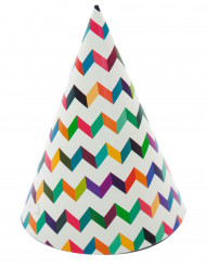 6 Partyhüte in trendy Farben