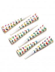6 Tröten in trendy Farben