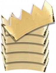 Goldene Pappkronen Set 6-teilig