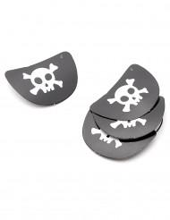 4 Piraten-Augenklappen
