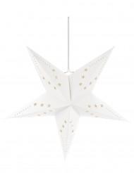 Sternen-Laterne - weiß